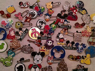 Disney Pin Trading Assorted Lot Of 50 Cast Trading Pin No Doubles Brand New