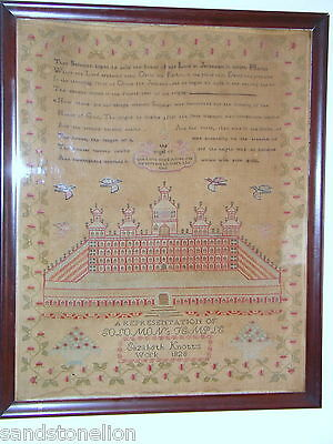 Antique Super Rare Sized Signed Dated Extra Large Sampler Dated 1828 Original