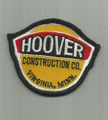 Vintage Hoover Construction Company Virginia Mn Patch Advertising Unsewn 3 In