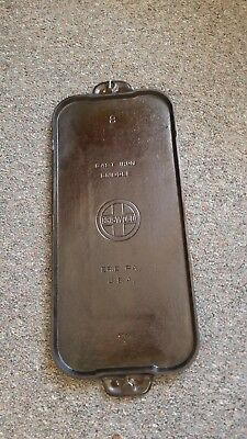 Vtg Old Cast Iron Griddle Griswold Large Logo Erie PA No #8 745-A  22 X 9 inches