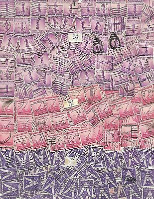 US Postage lot of 300 stamps Sc # 900 - 2¢ Anti-airc, # 901 - 3¢ Torch 3 BUNDLES