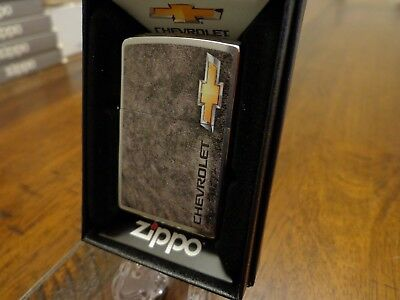 Chevrolet Bowtie Chevy Zippo Lighter Mint In Box