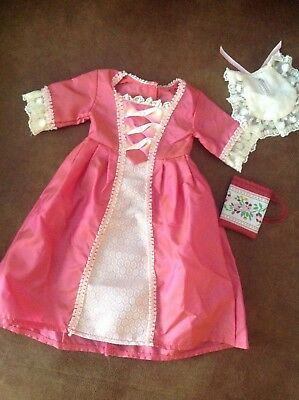 American Girl Doll Elizabeth Meet Gown Retired Dress coin 3 pieces