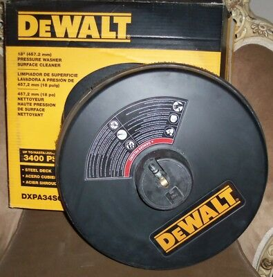 """DEWALT DXPA34SC 18"""" 3400 PSI Surface Cleaner with Quick Connect Plug - Pre owned"""