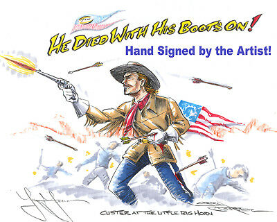 Errol Flynn as CUSTER He Died With His Boots On Movie Art Signed Gift 4 Dad