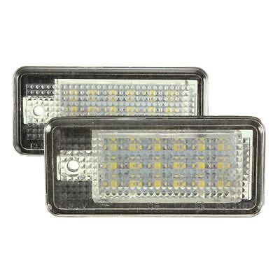 2x 18 LED License Number Plate Light Lamp For Audi A3 A4 A6 A8 B6 B7 S3 Q7 S8 RS