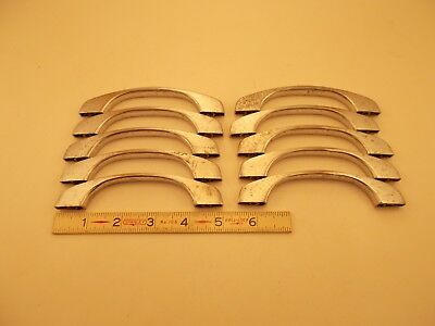 10 Vintage Chrome Art Deco Style Cabinet Door Drawer Pulls