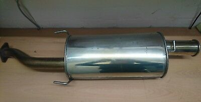 MG ZS stainless steel exhaust backbox