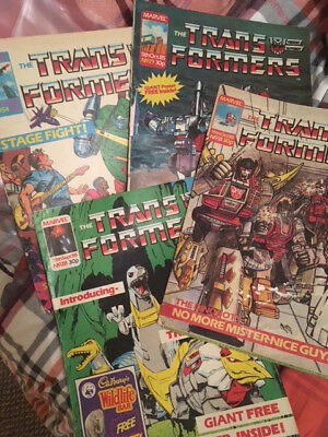 Rare collection Transformers Comic Marvel UK