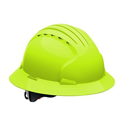 280-EV6161-10 Full Brim Hard Hat With HDPE Shell, 6-Point Polyester Suspension