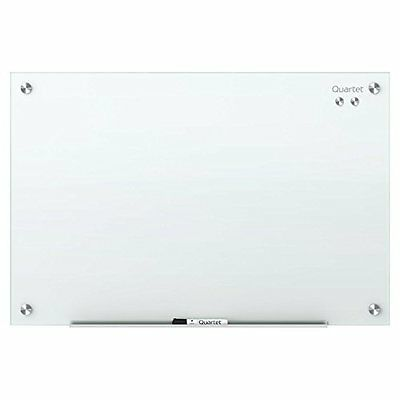 "Glass Dry Erase Board, Whiteboard / Magnetic, 36"" X 24"", Surface, Frameless,"