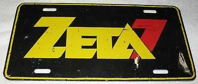 Zeta 7 Worj Orlando Florida Radio Station 1981 Vintage Promotional License Plate