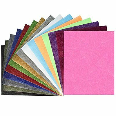 "Glitter Heat Transfer Vinyl (HTV), 12"" X 10"" 15-Color Starter BUNDLE"