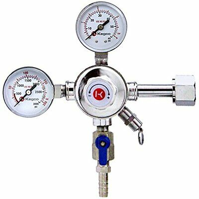 KC LH-542 Premium Pro Series Dual Gauge Co2 Draft Beer Regulator, Chrome