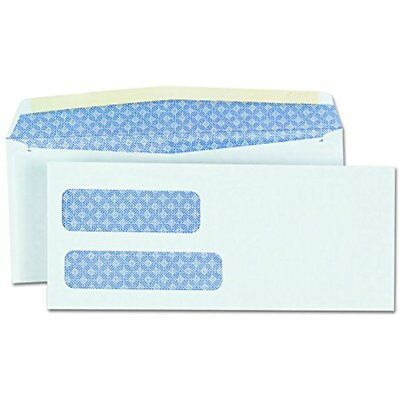 36301 Double Window Check Envelope, 9, 3 7/8 X 7/8, White (Box Of 500)