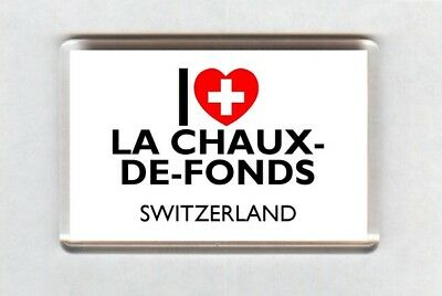 I Love La Chaux-de-Fonds Fridge Magnet • Switzerland Gift