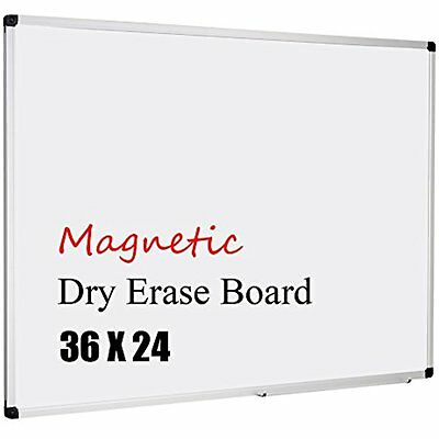 Magnetic 36x24-Inch Dry Erase Aluminum Framed Whiteboard With Detachable Marker