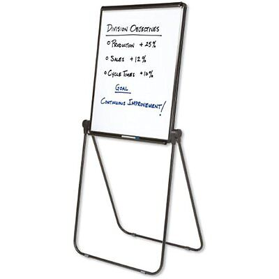 Easel, Whiteboard / Flip Chart, 27 X 34 Inches, Reversible, Ultima, Black Frame