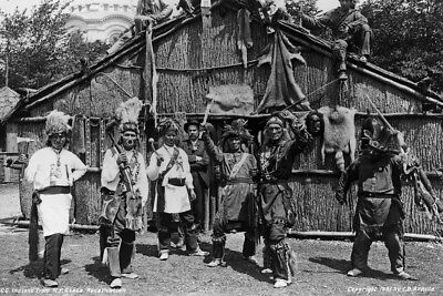 New 4x6 Photo: Native North American Indians from New York State Reservation