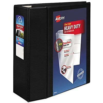 Heavy-Duty Reference View Binder With 5 Inch EZD Rings, Black (79606)