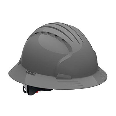Full Brim Hard Hat With HDPE Shell, Gray