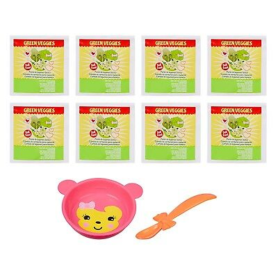 BABY ALIVE FOOD PACK - 8 Food packets, Spoon (non-magnetic) & Bowl