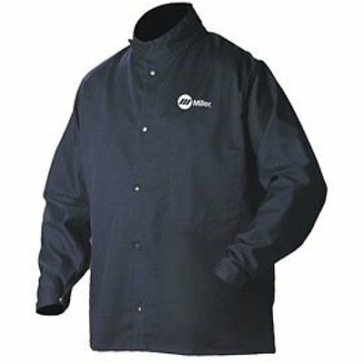 2241909 Welding Jacket, Navy, Cotton/Nylon, XL