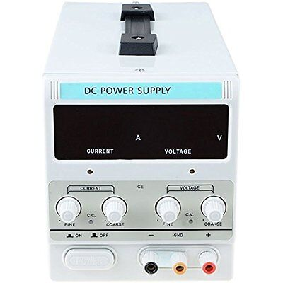 Dr.meter 30V/5A DC Bench Power Supply Single-Output 110V/220V Switchable With US