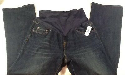 NWT Old Navy Maternity 14 Regular Jeans Boot Cut Full Panel dark wash   (A)