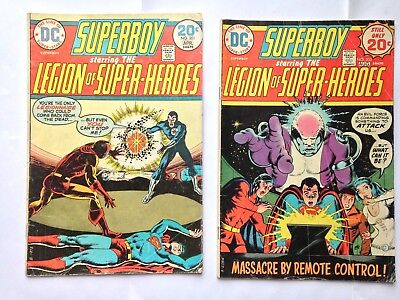Superboy starring Legion of Super-Heroes DC Bronze Age Lot 2 issues