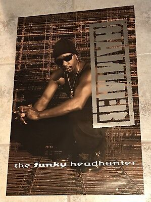 """M.C.HAMMER 1994 FUNKY HEADHUNTER Promo Poster 24""""X36"""" Very Good Condition"""