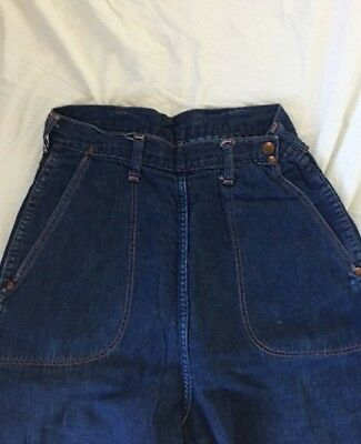 19Vintage 1950's Jeanie's by Blue Bell flannel lined side zip high waisted jeans