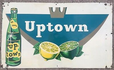 Vintage Rare Uptown Soda Pop Metal Sign Bottle OLD COOL RARE advertising! FAYGO
