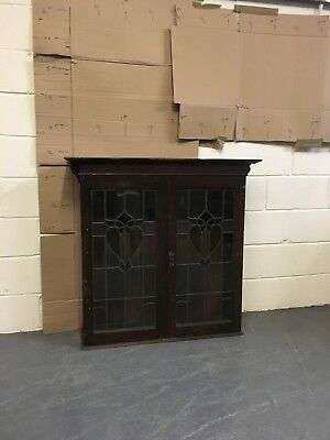 Pair Stained Glass Large Cupboard Doors