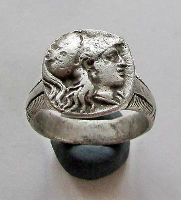 Alexander the Great .Greek  Ancient Legionary Silver Ring.RARE.