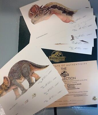 JURASSIC PARK Collection Limited Lithograph Prints signed STAN WINSTON CASH Mc