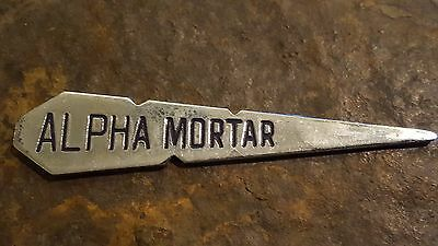 Alpha Morter Cement Advertising Spike Metal Concrete Marker Marketing Pavement