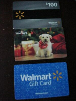 Lot Of Three Collectible Only Walmart Gift Cards No Value Lot 1