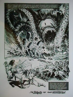 1975  Savage Sword Of Conan Magazine  # 6 Sonny Trinidad  Page 12 Production Art