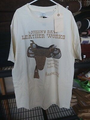 'Johnny Ray Leather Works T-shirt Size L