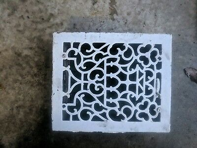 Antique Vintage Cast Iron Floor Grate Heat Return Register Vent Art Deco