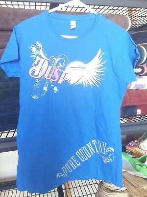 Pure Dust blue 'white wings' tee size XL