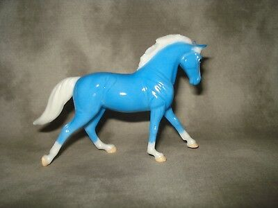 Breyer CM Glossy Decorator Light Blue Cantering Warmblood Stablemate