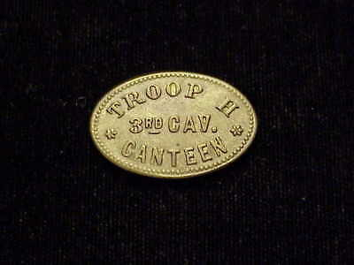 Troop H 3rd Cavalry Canteen Arizona Territory AZ Indian Wars oval military token