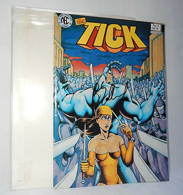 Very Nice Copy Of New England Comics The Tick #3-Signed By Ben Edlund 1988