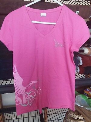 Pure Dust pink V-neck tee size 18