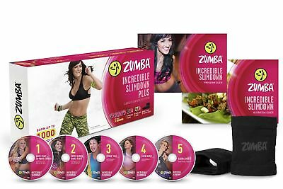 5Pc Dance Zumba Workout DVD Cardio training Burn Calories Slim Down Weight Lose
