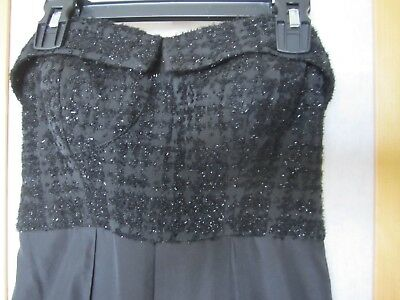 052e0c613ab Gorgeous Ted Baker of London Jumpsuit - Karlina Textured Bustier Black Size  0