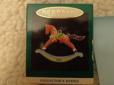 1995 Hallmark Miniature Keepsake Christmas Ornament ROCKING HORSE #8 IN SERIES