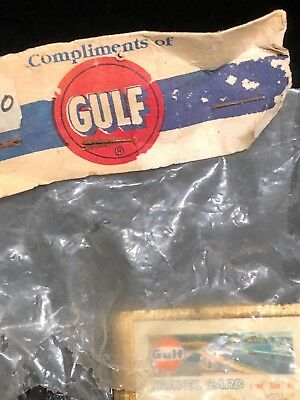 Vintage Gulf Oil Gas Gulf Travel Card Money Clip Original Packaging!  SHIPS FREE
